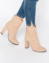 Faith Suede Calf Heeled Boots