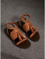 Burberry Tasselled Leather Sandals