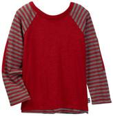 Splendid Striped Raglan Sleeve Long Sleeve Tee (Toddler Boys)