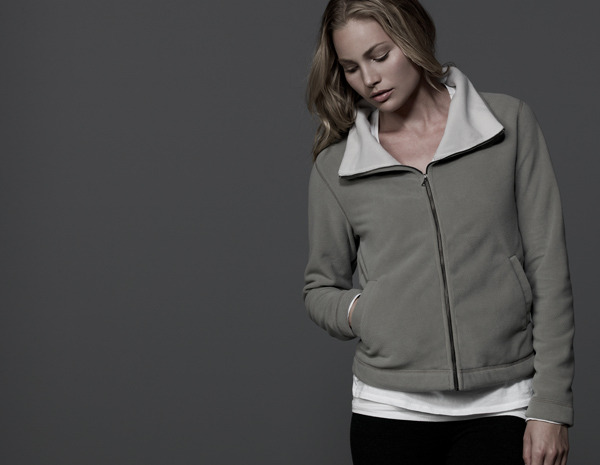 James Perse Cropped Funnel Neck Jacket