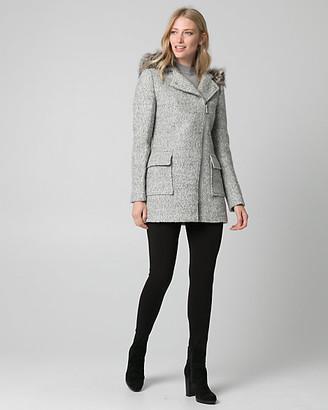 Le Château Faux Fur & Boucle Asymmetrical Coat