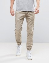 Replay Drawstring Cuffed Hem Taper Chino