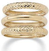 Set of 3 bands 10k gold