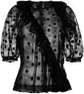 Simone Rocha lace shortsleeved blouse - women - Cotton/Nylon/Polyester - 6