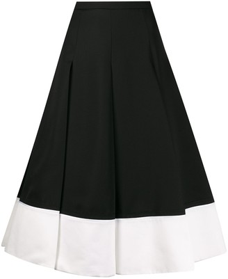 Rochas Two Tone Pleated Skirt