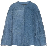 BY WALID Lace and cotton cape