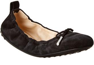 Tod's Gommino Suede Ballerina Flat