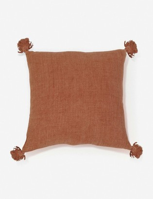 Lulu & Georgia Pom Pom at Home Montauk Pillow, Terra Cotta