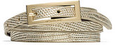 Michael Kors Embossed-Leather And Suede Belt