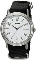 Roots 'Core' Quartz Stainless Steel and Nylon Casual Watch, Color:Black (Model: 1R-PR201WH7B)