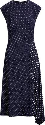 Ralph Lauren Polka-Dot Stretch Jersey Dress