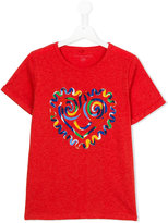 Stella McCartney heart print T-shirt - kids - Cotton/Viscose - 14 yrs