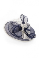 Quiz Navy And Cream Bow Detail Saucer Fascinator