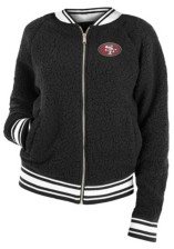 5th & Ocean San Francisco 49ers Women's Sherpa Bomber Jacket