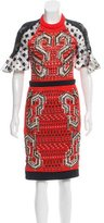 Peter Pilotto Embellished Mesh Dress