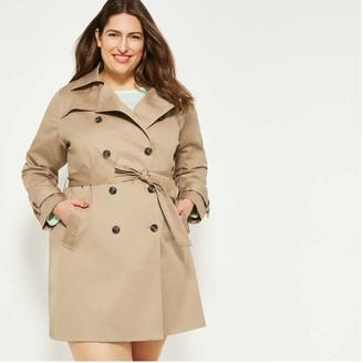 Joe Fresh Women+ Trench Coat, Light Khaki Brown (Size 3X)