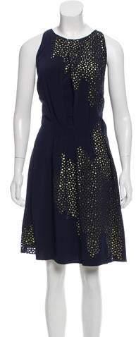 Maison Rabih Kayrouz Eyelet Knee-Length Dress w/ Tags