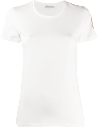 Moncler contrasting logo patch T-shirt
