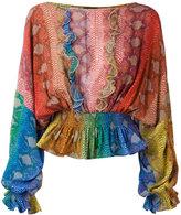 Just Cavalli gathered ruffle blouse - women - Viscose - 42
