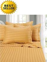 Elegant Comfort #1 Bed Duvet Cover Set on Amazon - Super Silky Soft - 1500 Thread Count Egyptian Quality Luxurious Wrinkle, Fade, Stain Resistant 3-Piece STRIPE Duvet Cover Set, Full/Queen, Gold