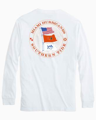 Southern Tide Miami Hurricanes Flags Long Sleeve T-Shirt