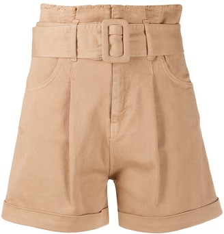 FEDERICA TOSI Belted High-Waisted Shorts