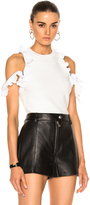 3.1 Phillip Lim Ruffle Sport Tank with Zippers