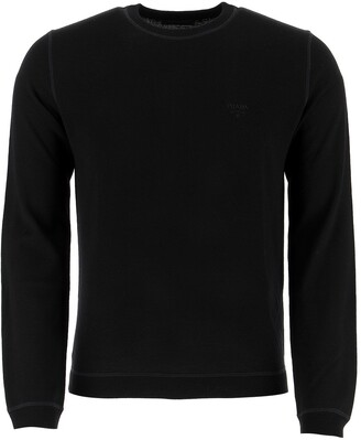 Prada Logo Embroidered Sweater