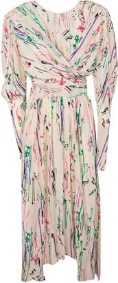 Isabel Marant Draped Printed Long Dress