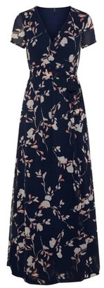 Dorothy Perkins Womens **Vero Moda Navy Floral Print Wrap Dress