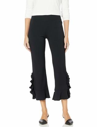 Kensie Women's Ruffle Ponte Pant