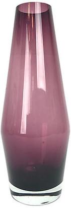 One Kings Lane Vintage Amethyst Glass Vase by Aseda Glass - Eat Drink Home - purple/clear