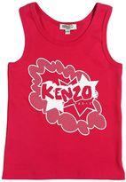Kenzo Logo Print Cotton Jersey Tank Top
