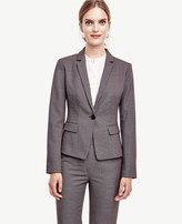 Ann Taylor Birdseye Tropical Wool One Button Jacket