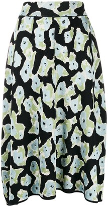 Christian Wijnants Floral Embroidered Midi Skirt