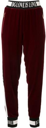 Dolce & Gabbana Velvet Track Pants