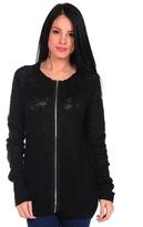 Widow Front Zip Sweater