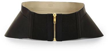 BCBGMAXAZRIA Zip Corset Waist Belt
