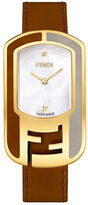 Fendi F332434521D1- Chameleon Leather Strap Watch