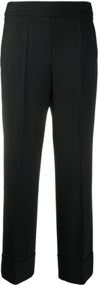 Incotex High-Rise Straight Leg Trousers