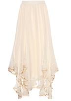 Chloé Ruffled silk skirt