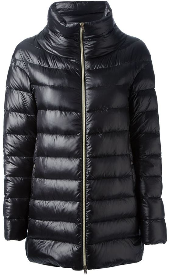 Herno lightweight quilted cape coat