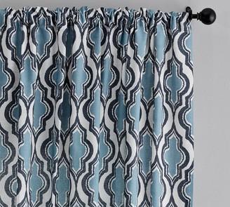 Pottery Barn Addie Print Linen/Cotton Rod Pocket Curtain