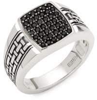 Effy Black Sapphire & Sterling Silver Ring
