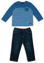 7 For All Mankind Boys' Striped Pocket Tee & Straight Jeans Set - Baby