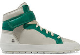 Etoile Isabel Marant Bessy Suede-Trimmed Leather High-Top Sneakers