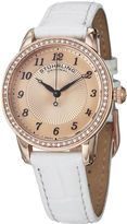 Stuhrling Original Sthrling Original Womens White Leather Strap Watch 5214.03