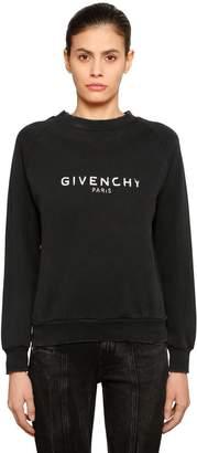 Givenchy VINTAGE LOGO COTTON JERSEY SWEATSHIRT