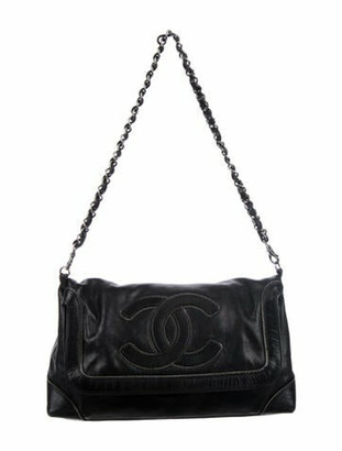 Chanel Chain-Trimmed Flap Bag Black