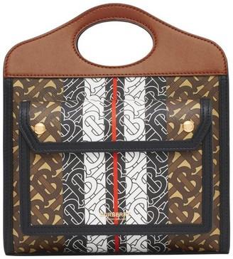 Burberry Mini Monogram Stripe E-canvas Pocket Bag